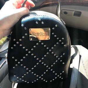 Black bebe mini rhinestone backpack